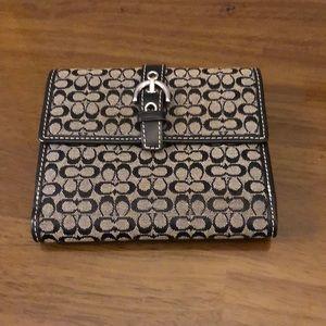 Black/gray coach wallet